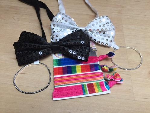 Set noeuds pap', bracelets glam & chouchou