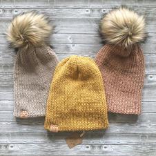 Fur Pom Pom Hats