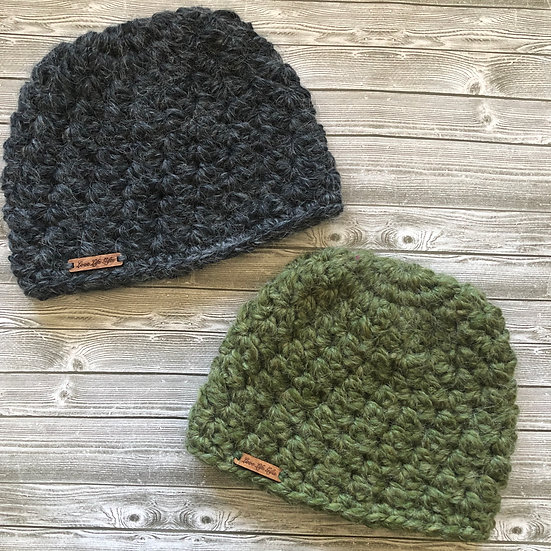 Alpaca Blend Crochet Beanie