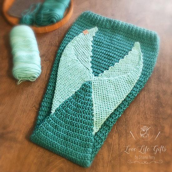 Kids Mermaid Tail Blanket