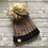 Thumbnail: Brown and Black Fur Pompom Hat