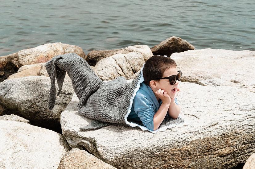Toddler Size Shark Tail Blanket