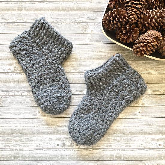 Chunky Crochet Slipper Socks