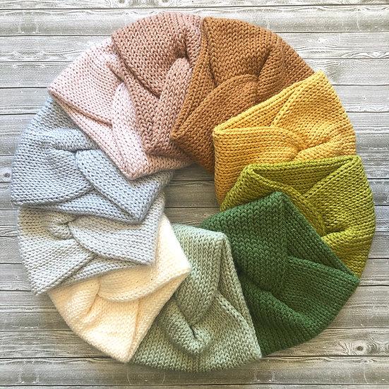 Twisted Turban Knit Headbands