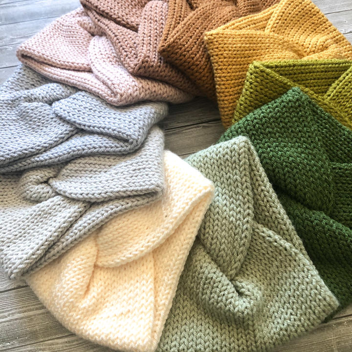 Knit Twisted Headbands