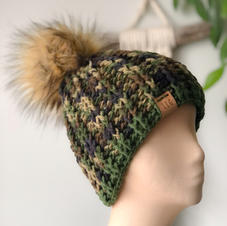 camouflage knit winter hat