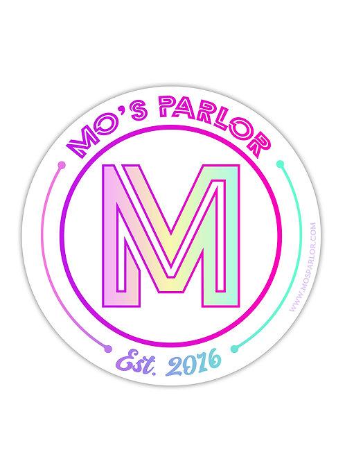 "MO'S PARLOR 3"" STICKER"