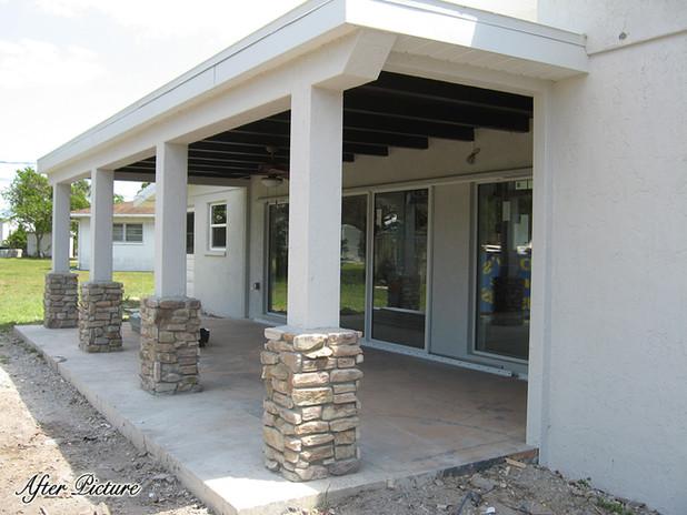 New Back Patio w/ Stone Columns - Sarasota, FL
