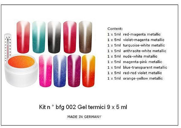 Thermo gel UV  kit  9 x 5 ml N ° 28  th 001