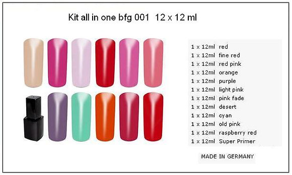 Kit  All in one   12 x 12 gr  N° 1