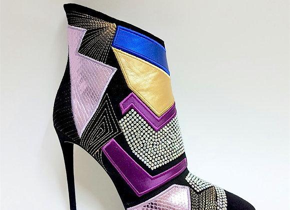 scarpa con tacco multicolor donna zanotti