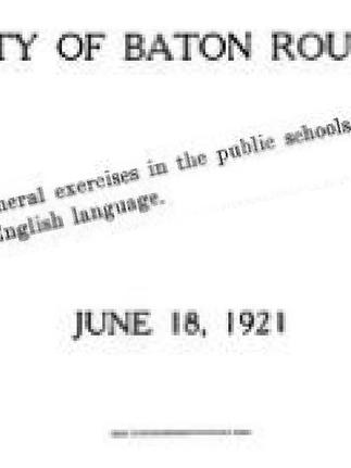 D'un trait de plume, la Louisiane s'est fait plumer: La Constitution de la Louisiane de 1921