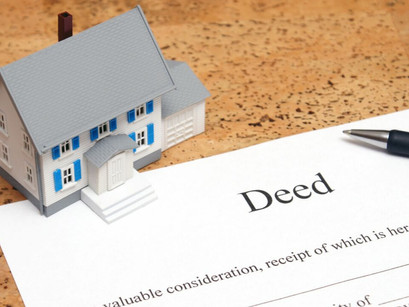 Recording of Deed of Reconveyance by a Title Company.