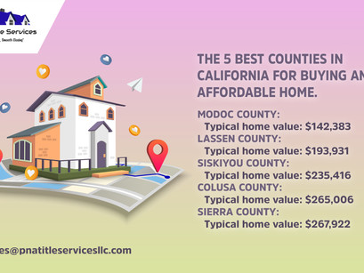 We reveal the counties in California with the cheapest housing markets