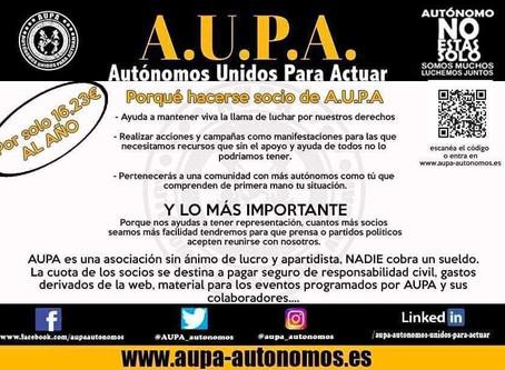AUPA- Autónomos Unidos Para Actuar está en España.