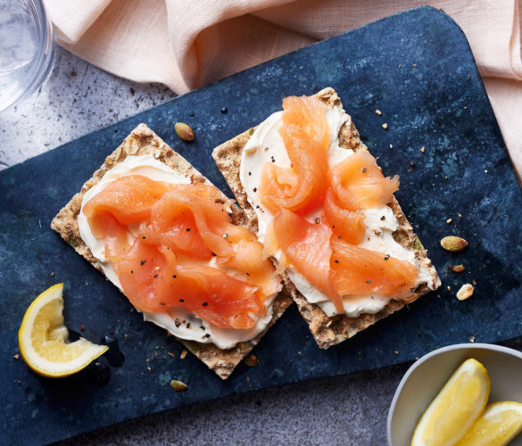 Ryvita, Philly and salmon snack