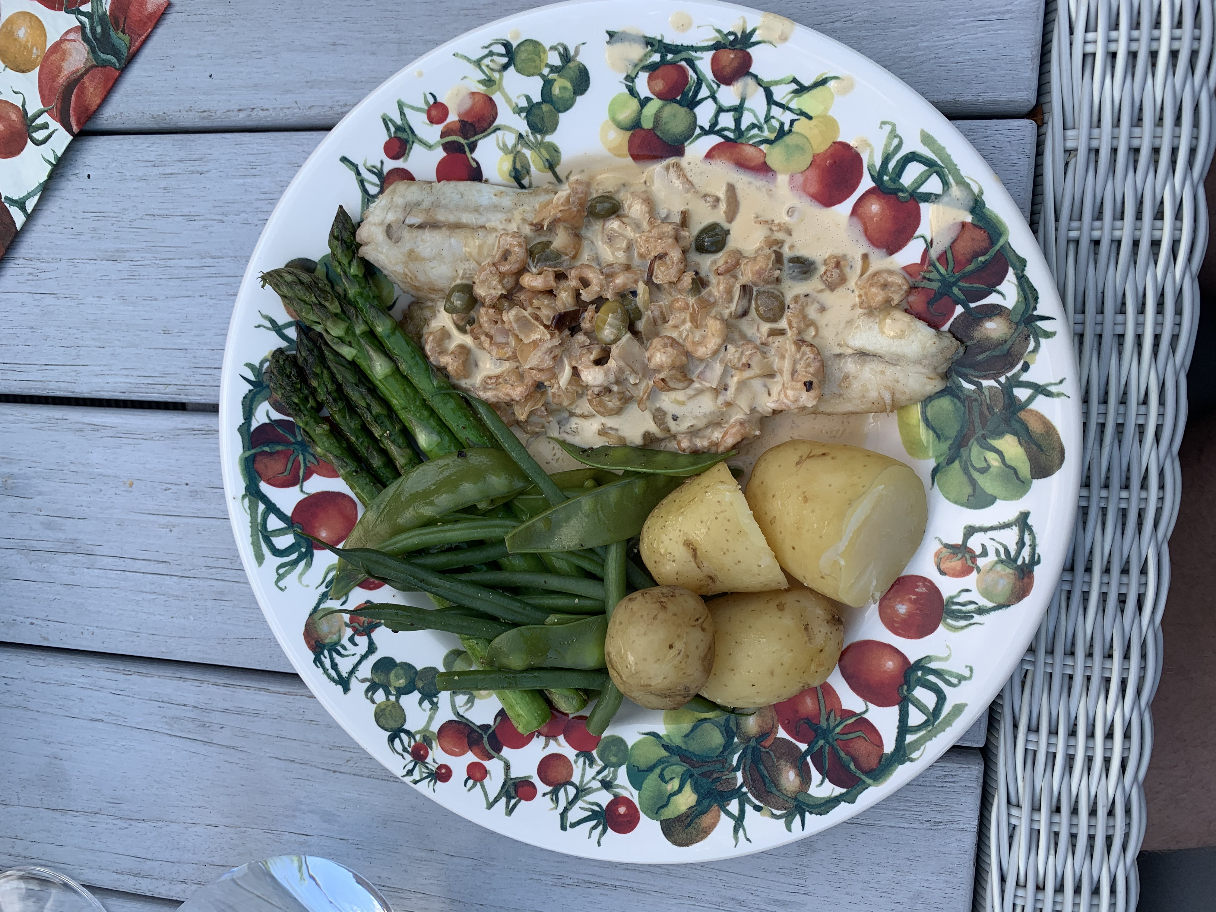 Fish with caper sauce