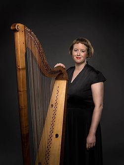 Hannah Lane_Headshot with baroque harp.j
