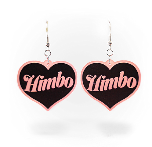 Himbo Frosted Blush Heart Earring Set