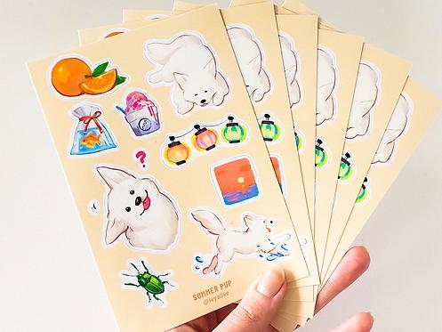 Samoyed Festival Dog Sticker Sheet