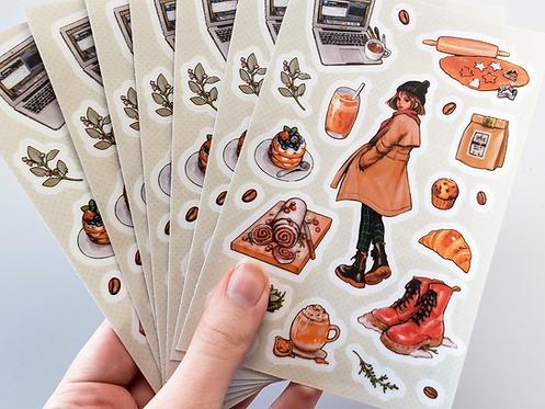 Sage Cafe Sticker Sheet