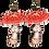 Thumbnail: Fly Amanita Wood Earrings