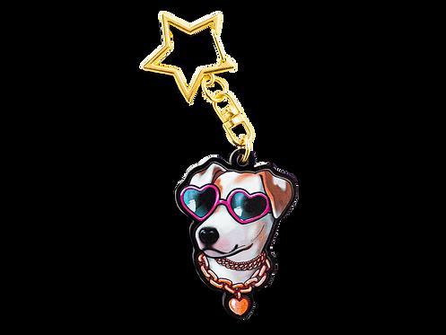 "Fabulous Pup 2"" Keychain"