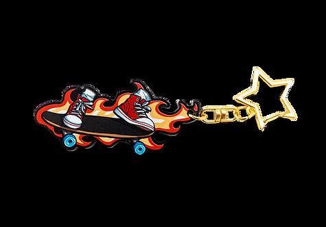"""Fire Eskate 2.5"""" Keychain"""