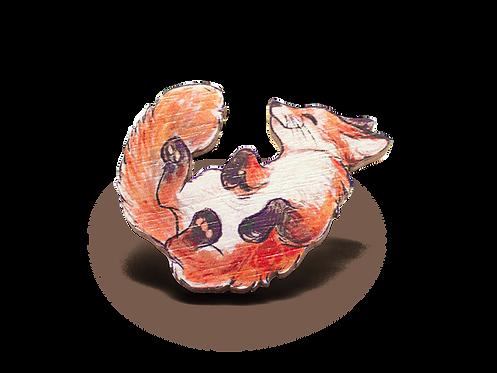 Foxy Babie 40mm Wooden Pin