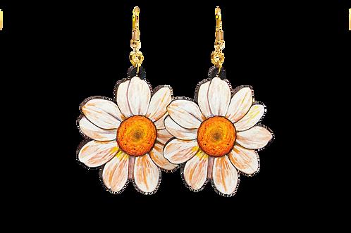 Daisy Wood Earrings