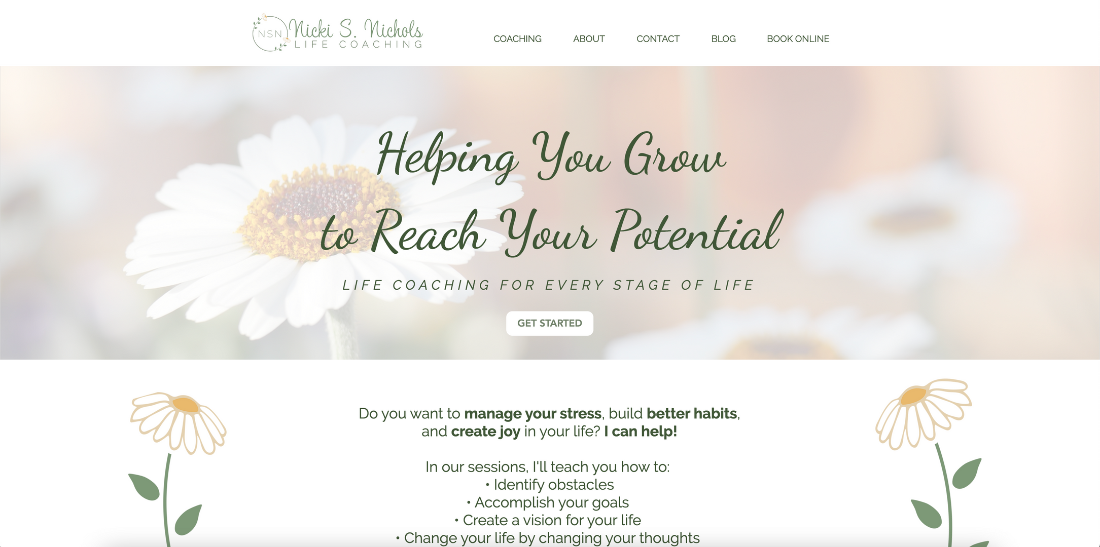 NSN Life Coaching Home Page