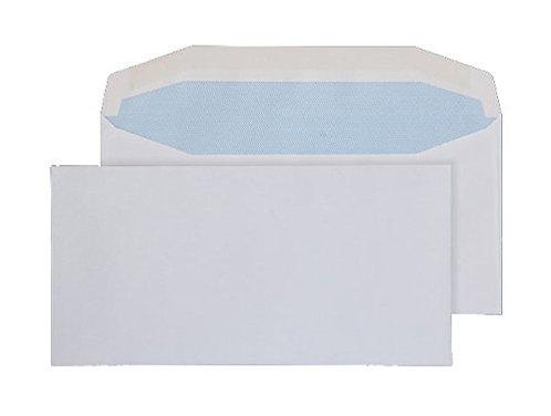 Envelopes DL+ Gummed Plain White 90gsm - Pack 1000