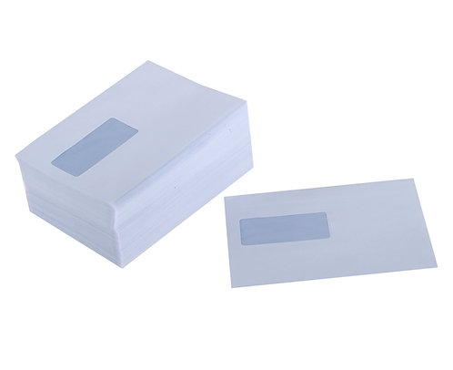 Envelopes C5+ Gummed High Window White 90gsm - Pack 500