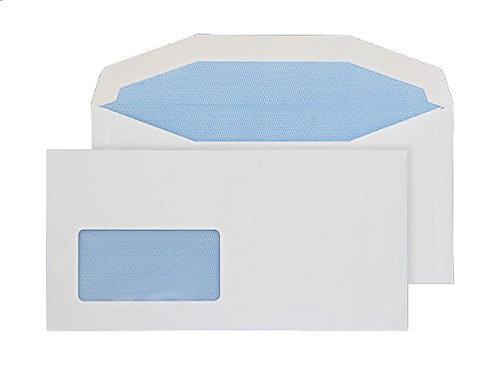 Envelopes DL+ Gummed 45x90mm Window White 90gsm - Pack 1000
