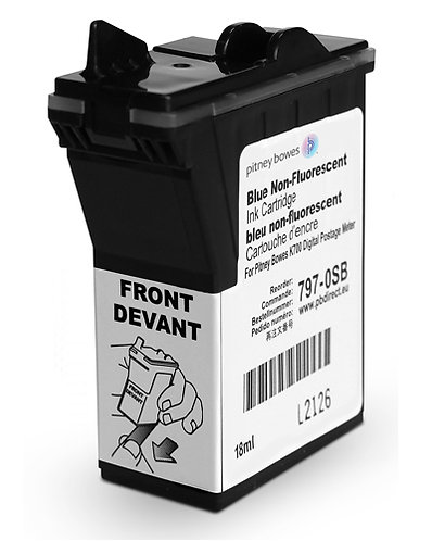 Pitney Bowes - DM50/DM55/DM60/K700/K721/K722 Ink Cartridge - Compatible Blue