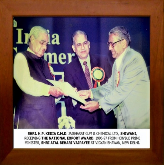 The MD receiving an award