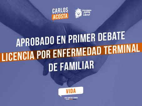 Aprobada en primer debate licencia por enfermedad terminal de familiares
