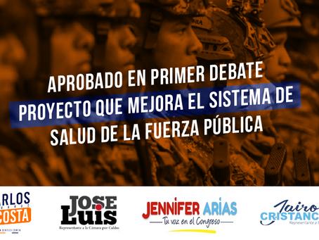 Aprobado en comisión proyecto de ley que reforma la salud de la fuerza pública en Colombia