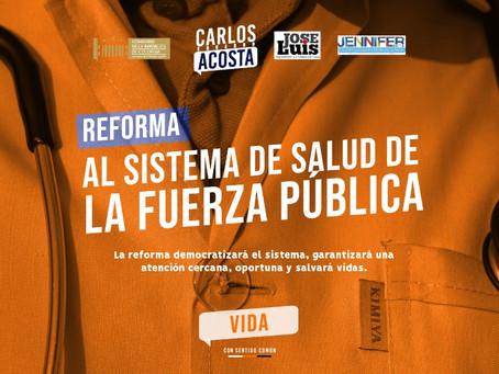Radicado proyecto de ley que reforma la salud de la fuerza pública en Colombia