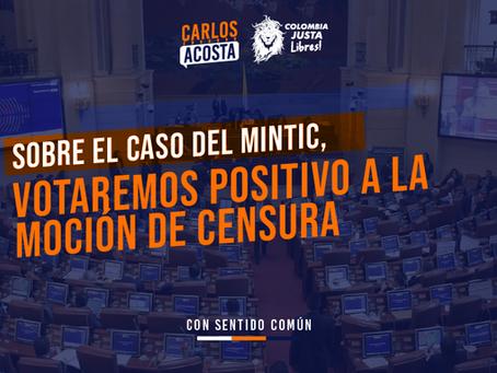 Votaremos positivamente la moción de censura al Ministerio de las Telecomunicaciones