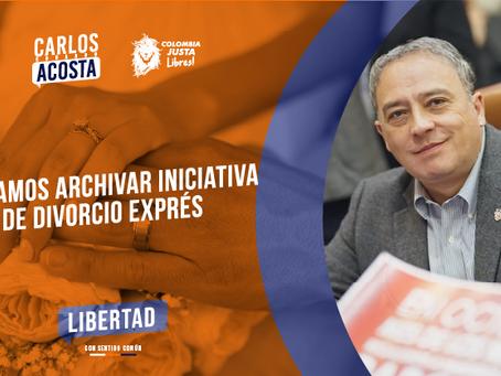 """Logramos hundir iniciativa de Divorcio Exprés"" Representante Carlos Eduardo Acosta"