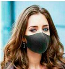 Facemask black washable