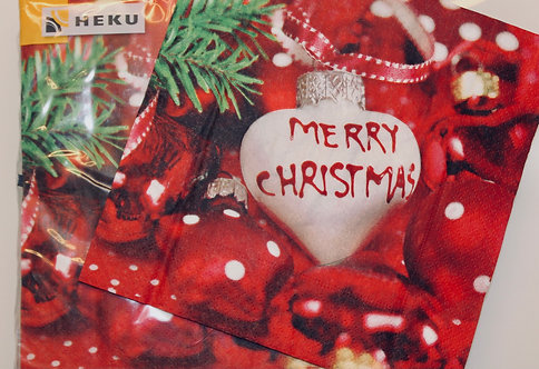Christmas napkins - red