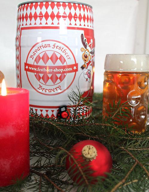 Christmas beer in 5 liter kegs