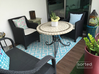Creating an inviting balcony space