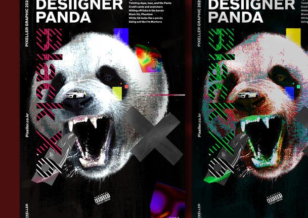 Desiiger panda artwork