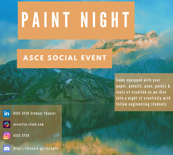 Painting Night - Third Social Event of Spring 2021