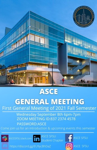 Fall 2021 First General Meeting
