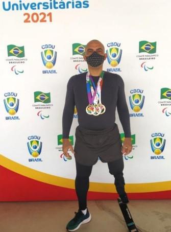 Policial militar do Ceará conquista três medalhas de ouro em Paraolimpíada Universitária
