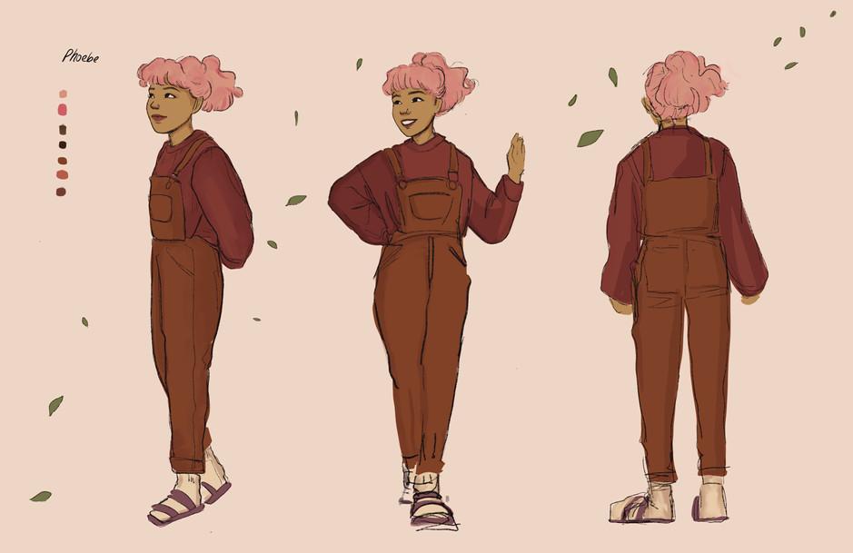 Phoebe Character Turnaround